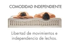 colchón con comodidad independiente