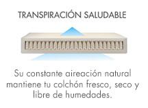 colchón con transpiracion saludable